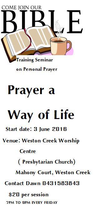 Training Seminar on Personal Prayer