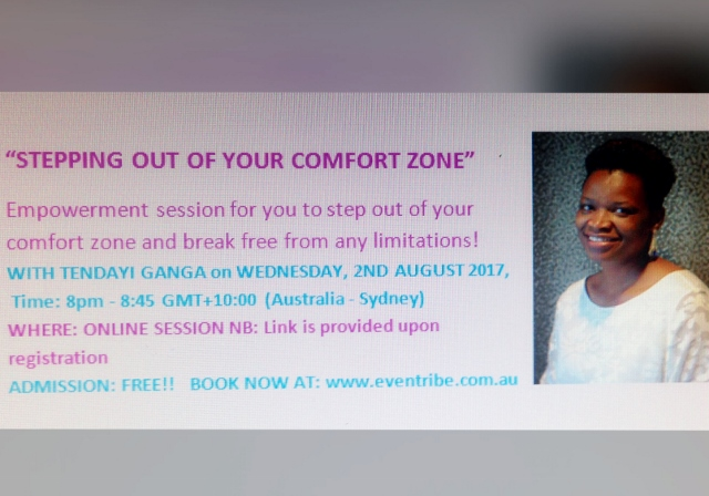 Stepping Out of Your Comfort Zone; Online Session