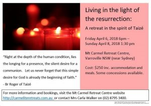 Taize Retreat April2018 flyer - Copy