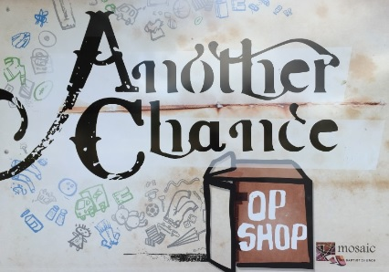 Another Chance Op Shop (Scullin) – 50% off ALL Clothing