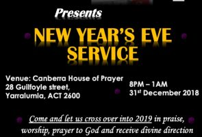 New year's Eve Cross Over  (WATCHNIGHT) Service