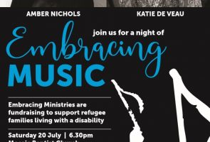 Embracing Ministries – Fund Raiser concert with Amber Nichols and Katie De Veau