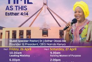 For Such a Time as This – Conference meetings with Ps Dr Esther Obasi-ike