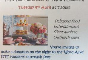 'High Tea' for DTS Outreach