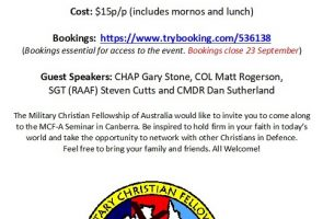 MCF-A Seminar Canberra – FIRM IN FAITH, inspired by Daniel