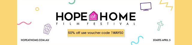 Hope at Home Festival 50% off voucher code 1WAY50