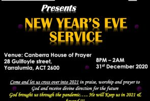 New Year's Eve CROSSOVER CHURCH SERVCE
