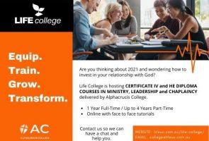 Life College 2021 Enrolments
